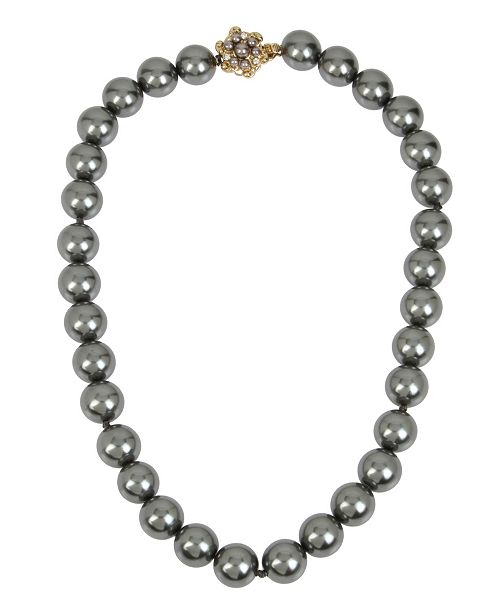 MIRIAM HASKELL 14 mm Pearl Strand Necklace