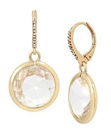 Circle Stone Drop Earrings