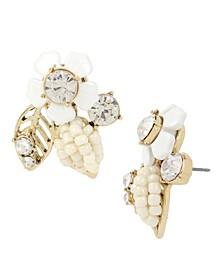 Flower Cluster Button Earrings