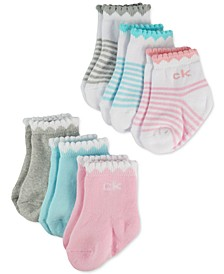 Baby Girls 6-Pk. Scalloped Socks
