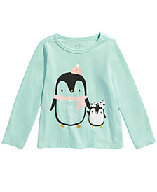 First Impressions Baby Girls Penguin T-Shirt, Created For Macy's