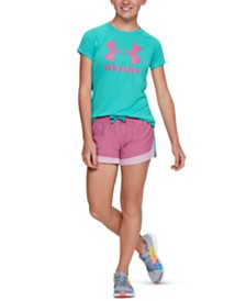 Under Armour Big Girls Logo Solid T-Shirt