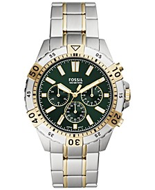 Men's Chronograph Garrett Two-Tone Stainless Steel Bracelet Watch 44mm