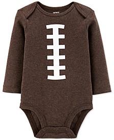 Baby Boys Cotton Football Bodysuit