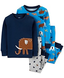 Baby Boys 4-Pc. Cotton Animals Pajamas Set