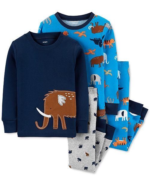 Carter's Baby Boys 4-Pc. Cotton Animals Pajamas Set
