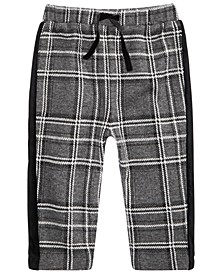 Baby Boys Velvet-Stripe Plaid Pants, Created For Macy's