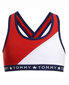 Tommy Hilfiger Little & Big Girls Cross Back Colorblocked Bra