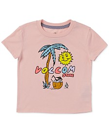 Volcom Toddler & Little Girls Last Party Logo-Print T-Shirt