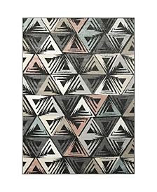 "Global Rug Design Cresent CRE02 Dark Gray 1'8"" x 2'8"" Area Rug"