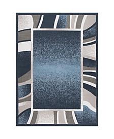 "Global Rug Design Loma LOM03 Blue 5'2"" x 7'4"" Area Rug"