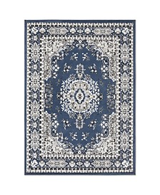 "Global Rug Design Loma LOM01 Dark Blue 9'2"" x 12'5"" Area Rug"