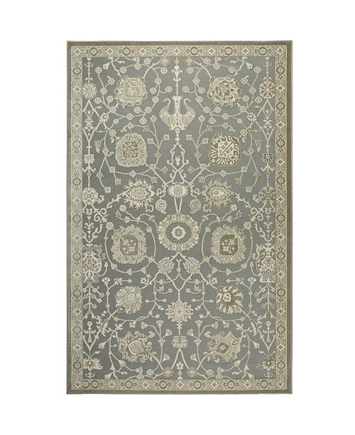 "Shabby Chic Chandler Aster Gray 5'2"" x 7'6"" Area Rug"
