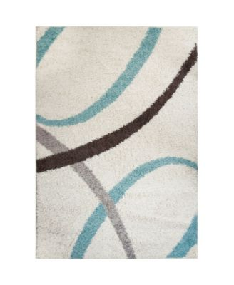 "Synergy Quill Shag White 9'2"" x 12'5"" Area Rug"