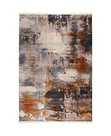 "Bridgeport Home Whitby WHI03 Gray 7'10"" x 10'2"" Area Rug"