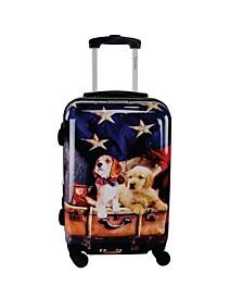 """Freedom Pups 20"""" Hardside Luggage Carry-On"""