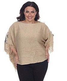 Plus Size Eagle Wings Poncho
