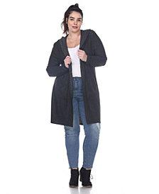 White Mark Plus Size Women's North Cardigan