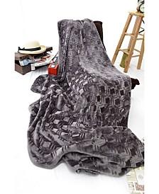 Happycare Tex Diamond Embossed Micro Velvet Blanket, King Size