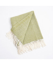 Saro Lifestyle Classic Herringbone Throw