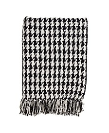 Houndstooth Print Throw