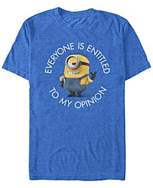 Illumination Men's Despicable Me Entitled To My Opinion Short Sleeve T-Shirt