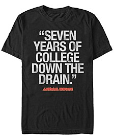 National Lampoon's Men's Bluto 7 Years Of College Short Sleeve T-Shirt