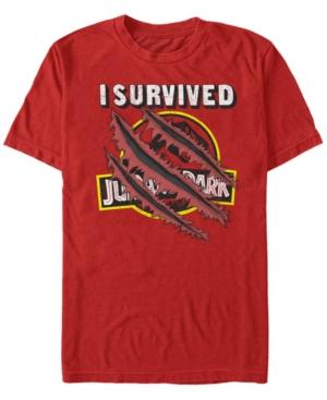 Men's I Survived Scratch Short Sleeve T-Shirt