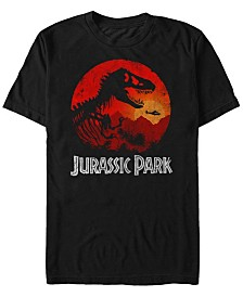 Jurassic Park Men's Jungle Sunset Short Sleeve T-Shirt