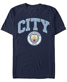 Manchester Football Men's Club City Logo Short Sleeve T-Shirt