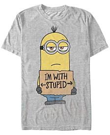 Minions Illumination Men's Despicable Me Powered By Bananas Short Sleeve T-Shirt