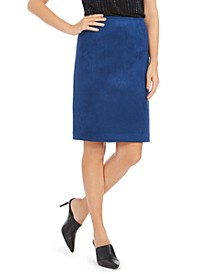 Faux-Suede Pencil Skirt