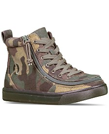 BILLY Little Boys Camo Classic Lace High Top Casual Sneakers from Finish Line