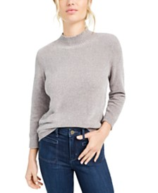 Maison Jules Heathered Mock Neck Sweater, Created For Macy's