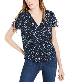 Tie-Sleeve Button-Down Blouse, Created For Macy's