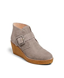 Izzie Suede Wedge Booties