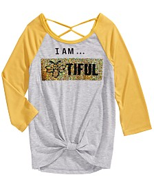 Beautees Big Girls Flip Sequins Top