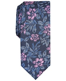Men's Clark Skinny Floral Tie, Created For Macy's