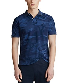 Men's Big & Tall Camo Mesh Classic Fit Polo Shirt