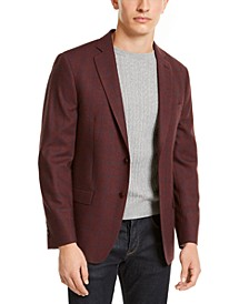 Men's Classic-Fit Windowpane Sport Coat