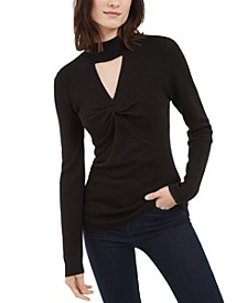 INC Mock-Neck Keyhole Twist Sweater, Created For Macy's