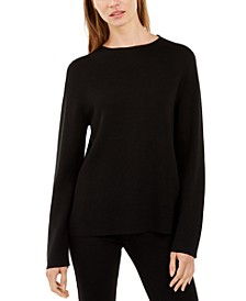 Funnel-Neck Long-Sleeve Sweater