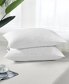 2 Pack Feather And Down Bed Pillows, Size- King