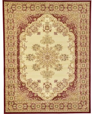 Belvoir Blv1 Ivory/Red 9' x 12' Area Rug