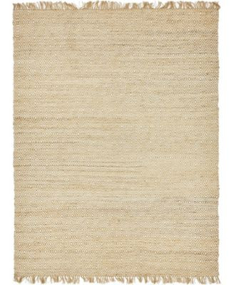 Braided Tones Brt3 Natural/White 6' x 9' Area Rug