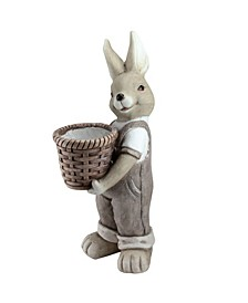 Neutral Tones Easter Boy Rabbit Outdoor Garden Planter