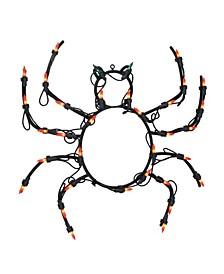 Lighted Spider Halloween Window Silhouette Decoration