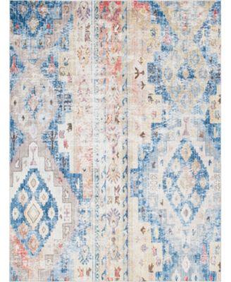 Nira Nir2 Blue/Beige 8' x 8' Round Area Rug