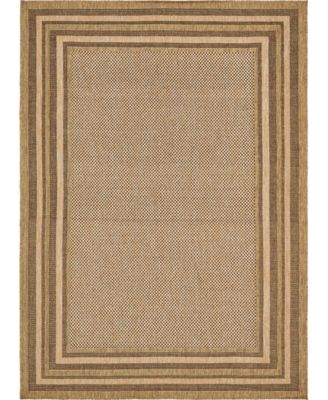 Pashio Pas6 Brown 6' x 6' Square Area Rug