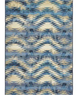 Pashio Pas2 Blue 10' x 12' Area Rug